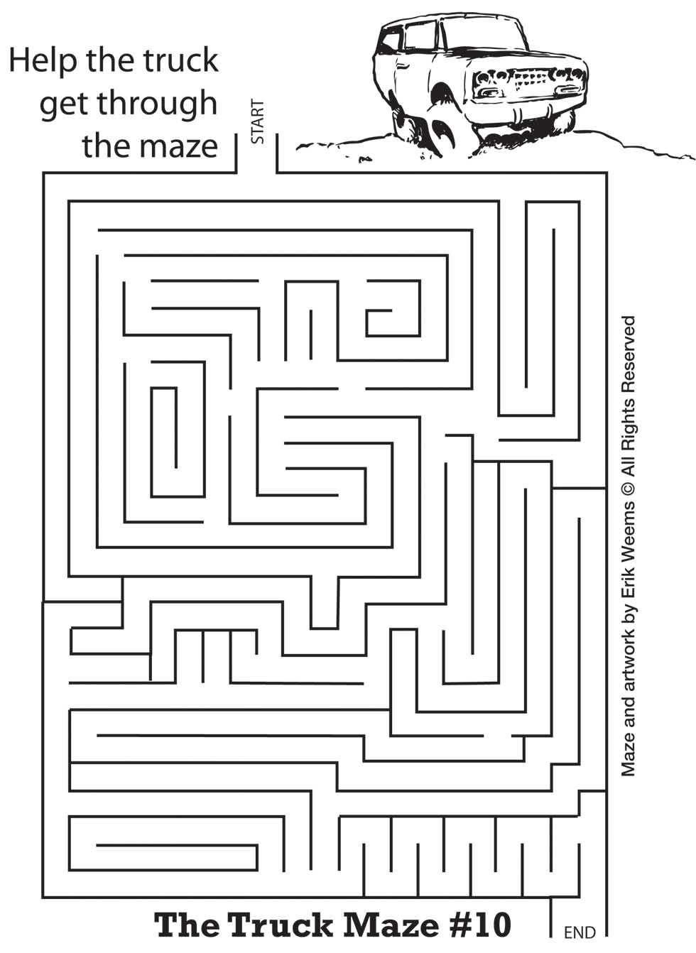 The Truck Maze - help the truck move through the maze